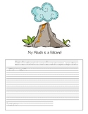 My Mouth Is a Volcano Writing Activity