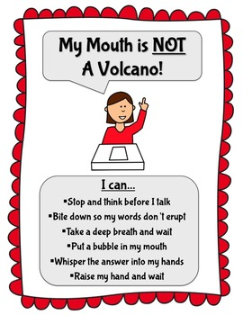 My Mouth is NOT a Volcano!