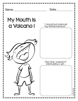 My Mouth is a Volcano - Activities