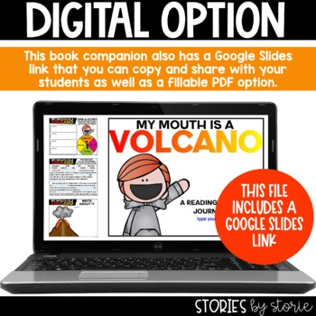 My Mouth is a Volcano (Book Questions, Vocabulary, & Craft)