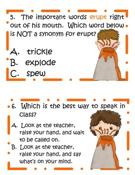 My Mouth is a Volcano!  Fun Activities for Interrupting