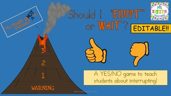 My Mouth is a Volcano: PowerPoint Game EDITABLE
