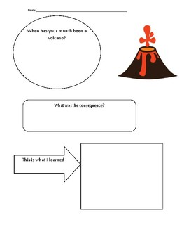 Volcano worksheets teaching resources teachers pay teachers my mouth is a volcano worksheet ccuart Gallery