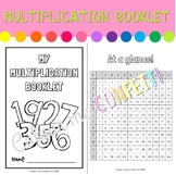 My Multiplication Booklet with auxiliary grid - Colour me