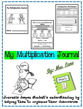 My Multiplication Journal