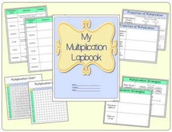 My Multiplication Lapbook:  Vocabulary, Properites, and Strategies