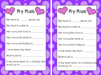 My Mum - Mother's Day interview