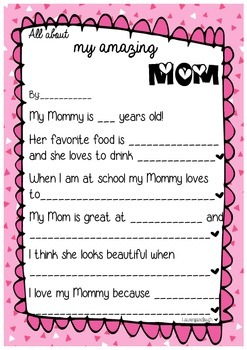 My Mum is AMAZING! Mother's Day Writing Activity