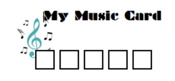 My Music Card - Reward Punch Card