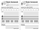 My Music Homework, Practice & Teaching Log Sheets(Printables for teaching music)