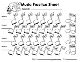 My Music Practice Sheet