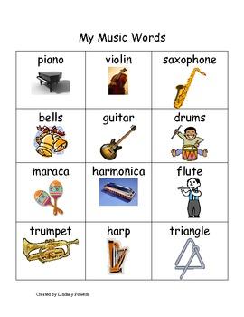 My Music Words