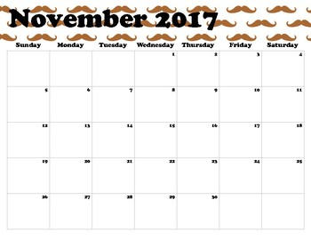 """My """"Mustached"""" For Calendar"""