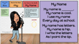 My Name - Digital Poem and Interactive Google Slides Tasks