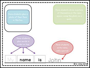 My Name Is... Beginning of the Year Class Book