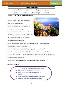 'My Name Is Gabriela,' Monica Brown- Language Discovery Workbook, CC