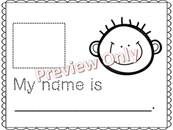 My Name Is...  Name Writing Activity