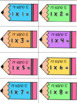 My Name Is: Multiplication Fact Practice