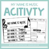 My Name Is Music | Activity