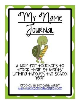 My Name Journal