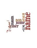 ESL Lesson Plan : My Name, My Identity ELLs ESL Language A