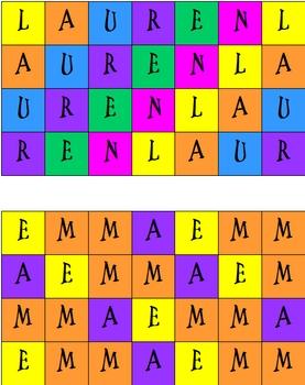 My Name Pattern
