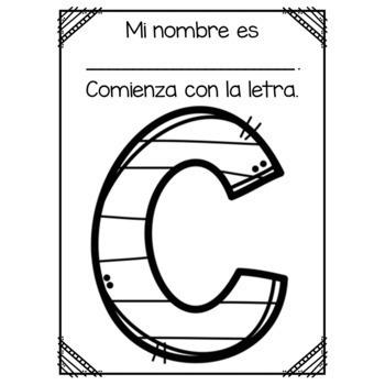 My Name Starts With...SPANISH