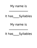 My Name Syllable