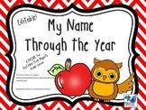 My Name Through the Year September FREEBIE