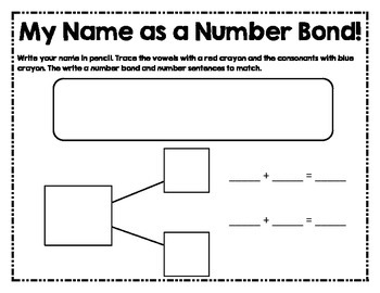 My Name as a Number Bond