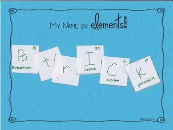 Freebie! My Name in Elements {science}
