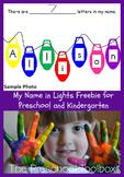My Name in Lights Activity for Preschool and Kindergarten
