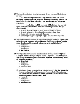 My Name is Asher Lev Book 3 Quiz (key)