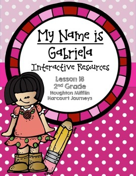 My Name is Gabriela Interactive Resources (Aligned with Journeys 2nd Grade)