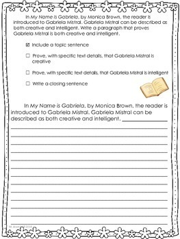 My Name is Gabriela-Journeys Grade 2-Lesson 18