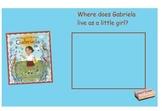 My Name is Gabriela SmartBoard Comprehension File
