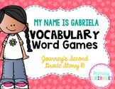 My Name is Gabriela Vocabulary Word Games {Goes with Journey's Second Grade}