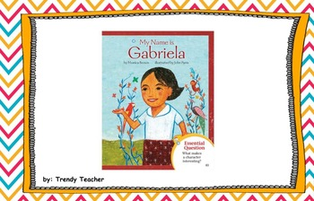 My  Name is Gabriela flipchart Journey's