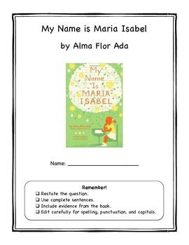 My Name is Maria Isabel Book Club Packet