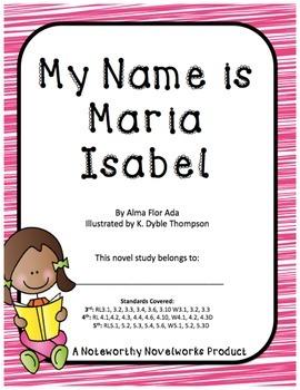 My Name is Maria Isabel Novel Study