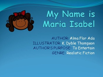 My Name is Maria Isabel Skills Power Point