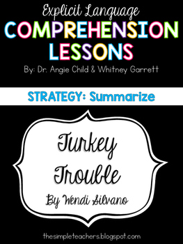Turkey Trouble - Summarize Comprehension Lesson Plan