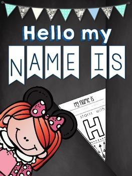 My Name is_____ it starts with ______. {Pennant Flag Printable}