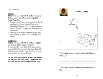 My Native American Booklet- Grade 4