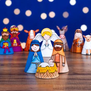 Christmas Nativity Craft (pre-coloured)