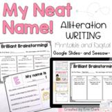 Name Alliteration Writing Activity