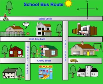 My Neighborhood Map Study Smartboard Lesson