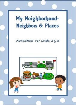 My Neighborhood - Worksheets for Grade 2 & 3