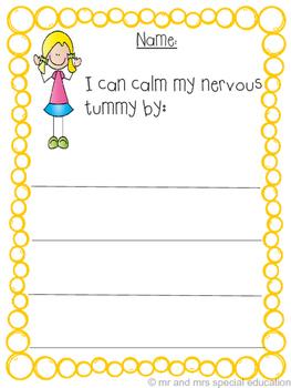 My Nervous Tummy Worksheet Packet