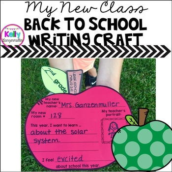 Back to School Writing Craft for First, Second, Third Grade